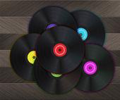 Vinyl Music Background — Stock Vector