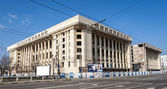 BUCHAREST, RO - March 03: Casa Radio on March 03, 2013 in Bucharest, Romania. Casa Radio is a massive unfinished building, which is a legacy from the Ceausescu era. — Foto de Stock