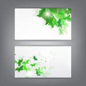 Environment theme business card template — Stock Vector