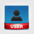 Blue Textile User icon — Imagen vectorial