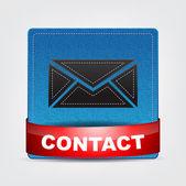 Textile Contact icon — Stock Vector