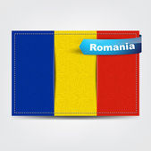 Fabric texture of the flag of Romania — Stock Vector