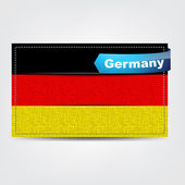Fabric texture of the flag of Germany — Stock Vector