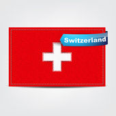 Fabric texture of the flag of Switzerland — Stock Vector