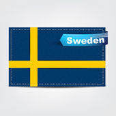 Fabric texture of the flag of Sweden — Stock Vector