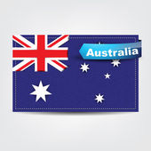 Fabric texture of the flag of Australia — Stock Vector
