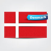 Fabric texture of the flag of Denmark — Stock Vector