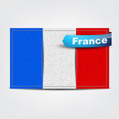 Fabric texture of the flag of France — Stock Vector