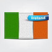 Fabric texture of the flag of Ireland — Stock Vector
