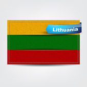 Fabric texture of the flag of Lithuania — Stock Vector