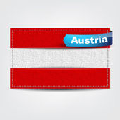 Fabric texture of the flag of Austria — Stock Vector