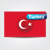 Fabric texture of the flag of Turkey — Stock Vector