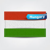 Fabric texture of the flag of Hungary — Stock Vector