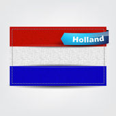 Fabric texture of the flag of Holland — Stock Vector