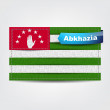 Fabric texture of the flag of Abkhazia — 图库矢量图片