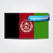 Fabric texture of the flag of Afghanistan — Stock Vector