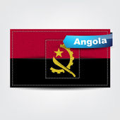 Fabric texture of the flag of Angola — Stock Vector