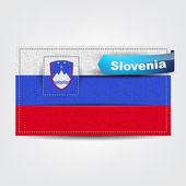 Fabric texture of the flag of Slovenia — Stock Vector