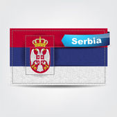 Fabric texture of the flag of Serbia — Stock Vector