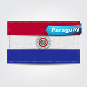 Fabric texture of the flag of Paraguay — Stock Vector