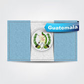 Fabric texture of the flag of Guatemala — Stock Vector