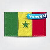 Fabric texture of the flag of Senegal — Stock Vector