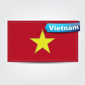 Fabric texture of the flag of Vietnam — Stock Vector