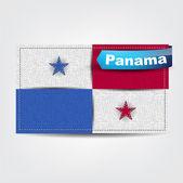 Tekstura tkanina flagi Panamy — Wektor stockowy