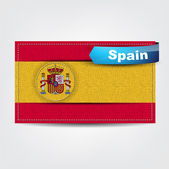 Fabric texture of the flag of Spain — Stock Vector