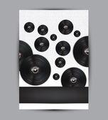Ilustración de fondo música abstracta para su diseño — Vector de stock