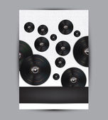 您设计的的抽象音乐背景图 — 图库矢量图片
