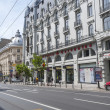 BUCHAREST, ROMANIA - May 09: Downtown Bucharest Architecture on May 09, 2013 in Bucharest,Romania. Bucharest has prominent buildings in a variety of styles by many architects. — Stock Photo