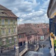 Foto Stock: Small Square of Sibiu