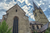 Gothic cathedral in centre of Sibiu — Stock Photo