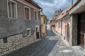 Old street of residential buildings. — Stock Photo