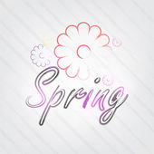 Spring Typography — Stock Vector