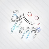 Be Happy Typography — Vettoriale Stock