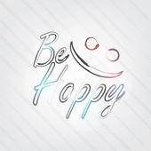 Ser feliz tipografía — Vector de stock