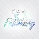 February Typography — Stock Vector