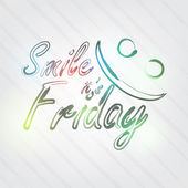 Smile it's Friday Typography — Vector de stock