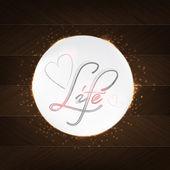 Life Typography — Stock Vector