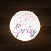 Spring Typography — Vector de stock