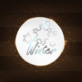Winter Typography — Stock Vector