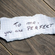 To me, you are Perfect — Stock Photo