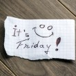 It's Friday — Stockfoto