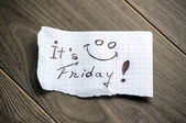It's Friday — Foto de Stock