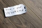 να έχεις καλό σαββατοκύριακο — Φωτογραφία Αρχείου