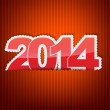New 2014 year greeting card — Stockvectorbeeld