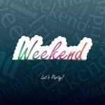 Weekend Background — Stock Vector