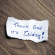 Stock Photo: Thank God it's Friday!